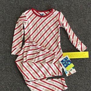 Girls candycane striped holiday pajama set size 3T